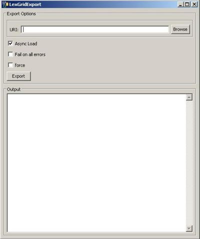 Screenshot of LexGrid Export.